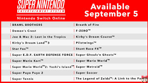 Nintendo Switch Online gets SNES games September 5, plus new ...