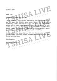 bonangresignationletter bonang s resignation letter copy revealed a courteous resignation letter right except bonang makes no mention of the fact that she was unhappy that she was given a co host