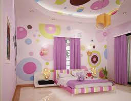 room elegant wallpaper bedroom: bedroom teen rooms admirable design for girls bedroom with colorful polcadot wallpaper theme and adorable colorful bed sheet also unique table lamp plus