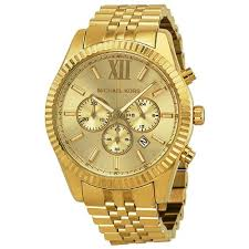 simple yet stylish this mid size gold tone stainless steel watch michael kors mens watches lexington gold