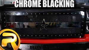 How to Paint <b>Chrome</b> Black - YouTube