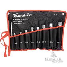 Набор <b>ключей</b> трубчатых <b>торцевых</b> 9 предметов. <b>MATRIX</b> арт ...