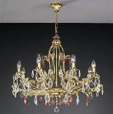 Подвесная люстра <b>La Lampada LAM</b> 775/8 GOLD + CRYSTAL ...
