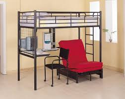 Loft Bed With Sofa Amazoncom Coaster Fine Furniture 2209 Metal Bunk Bed With Futon