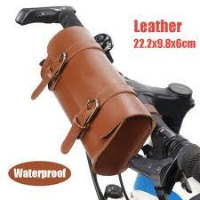 Leather <b>Bag</b> Motorcycle <b>Bike</b> Handlebar <b>Pouch</b> Storage <b>Waterproof</b> ...
