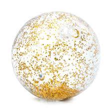 <b>Мяч надувной Intex</b> Прозрачный блеск 58070NP, 71 см, цвет в ...