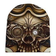 Шапка унисекс с полной запечаткой <b>Стимпанк</b>-череп #1965416 ...