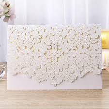 1pcs Gold White Red <b>Luxury</b> Flora Laser Cut <b>Wedding Invitations</b> ...
