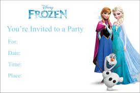 frozen printable birthday party invitation personalized party email