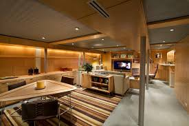 industrial basement ceiling basement midcentury with day lighting energy efficient lighting basement ceiling lighting
