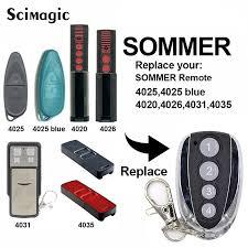 Automatic <b>Gate remote</b> control copy <b>SOMMER</b> 4020 4026 4031 ...