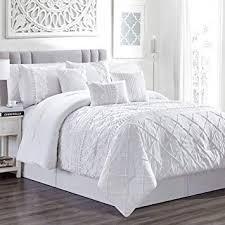 7 Piece Harmony White Comforter Set King: Home ... - Amazon.com