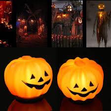<b>Halloween Pumpkin</b> Jack-O-Lantern Orange LED Light Festival ...