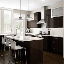 Dark Brown Kitchen Cabinets Cool White Color Kitchen Laminate Countertop Come With Dark Brown