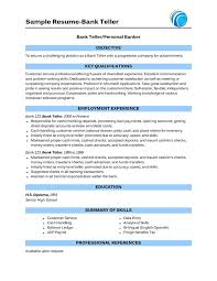 teller resume with no experience sample resume bank teller resume sample bank teller