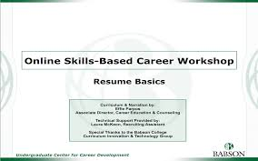 resumes cover letters and more career development college hidden online workshops