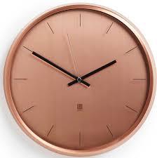 <b>Часы настенные</b> Umbra <b>Meta</b>, цвет: медный
