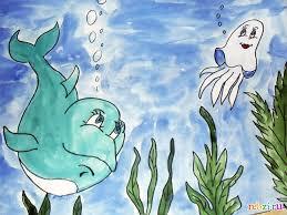 Картинки по запросу рисунок подводный мир