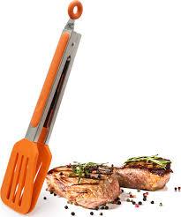 <b>Щипцы</b> силиконовые кулинарные (Германия), цвет: оранжевый ...