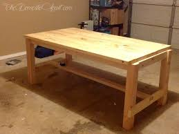 hardware dining table exclusive: diy farmhouse dining table from thedomesticheartcom