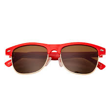 Childrens Round <b>Half Frame</b> Unisex Kids <b>Sunglasses</b> Unisex Lens ...