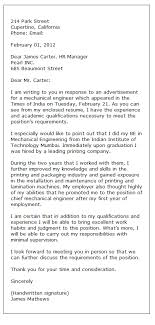 Example Of Resume Application Letter  resume and application         This cover letter makes an immediate impact on the reader by showing a job applicants relevant