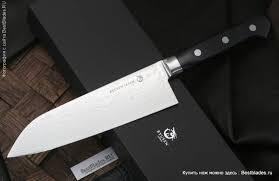 Купить Кухонный <b>нож RYUSEN</b> Bonten-Unryu Santoku 170 мм за ...