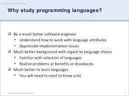 Why study programming languages  SlideShare