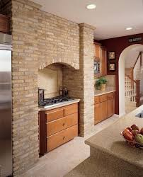kitchen accent wall brown