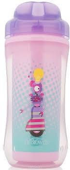 <b>Чашка</b>-<b>термос</b> Dr.Brown's 300 мл, <b>без носика</b>, 12+ месяцев, цвет ...