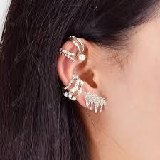 Antique Silver Color Cuff Stud Earrings 9PCS/Set Sale, Price ...