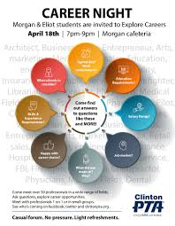 career night for morgan eliot students tue apr 18 7 9pm advertising amy carse