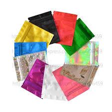 <b>100 pcs</b> 7.5x10 cm (3''x4'') <b>Colorful Top</b> Feed Foil Zip lock Bags ...