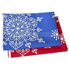 Декоративная скатерть «Снежинки», синяя — заказать скатерти ...