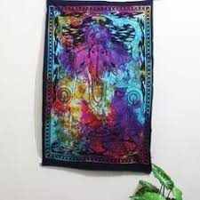 Golden Ganesha Wall hanging <b>Trippy</b> Poster <b>Hippie Tapestry</b> ...