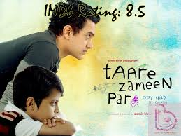 top movies of aamir khan based on imdb rating 10 top imdb rated movies of aamir khan taare zameen par