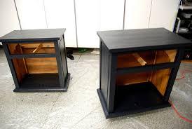 the nightstands painted black black painted bedroom furniture