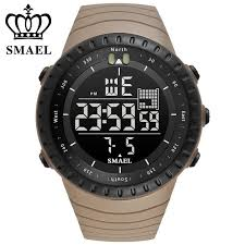 <b>SMAEL Luxury</b> Brand Mens Sports <b>Watches</b> Dive 50m <b>Digital</b> LED ...