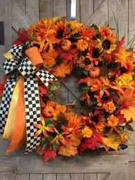Fall wreath with leaves,<b>Japanese</b> lanterns,corn husks,faux corn on ...