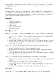 professional safeway courtesy clerk templates to showcase your    resume templates  safeway courtesy clerk