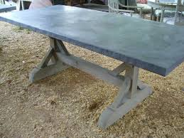 images zinc table top: belgian zinc top table picerin belgian zinc top table
