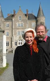 escape to the chateau perfectly cast fantasy television full of dick strawbridge and angel adoree outside their french chateau