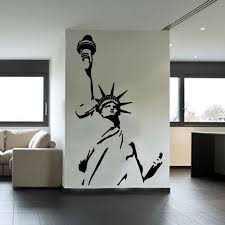 liberty bedroom wall mural: statue of liberty wall sticker new york city symbolic living room decorative wall decal vinyl removable diy home decor