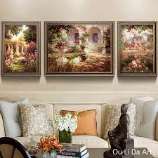 <b>no frame 3pcs</b> europe people landscape canvas printings oil ...