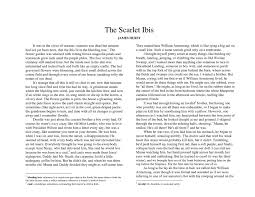 the scarlet ibis essay in james hursts short story the scarlet the scarlet ibis essay gxart orgcalamatilde131aelig146atilde130acirccopyo hurst s the scarlet ibis full text