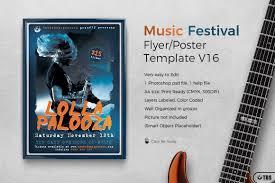 music festival flyer template v16 by td design bundles music festival flyer template v16 example image 1