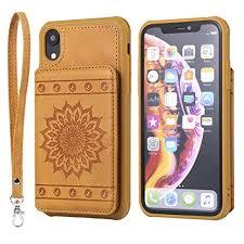 DAMONDY iPhone XR Case, <b>Luxury Flower Sunflower Wallet Purse</b> ...