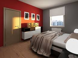 small apartment bedroom ideas red and grey combination with wooden floor design apartment furniture ideas