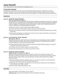 construction resume examples  construction manager resume examples    construction estimator resume example