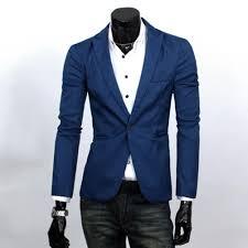 2019 <b>Fashion Men Slim</b> Fit Solic Color Casual Suit <b>Blazer</b> Coat ...